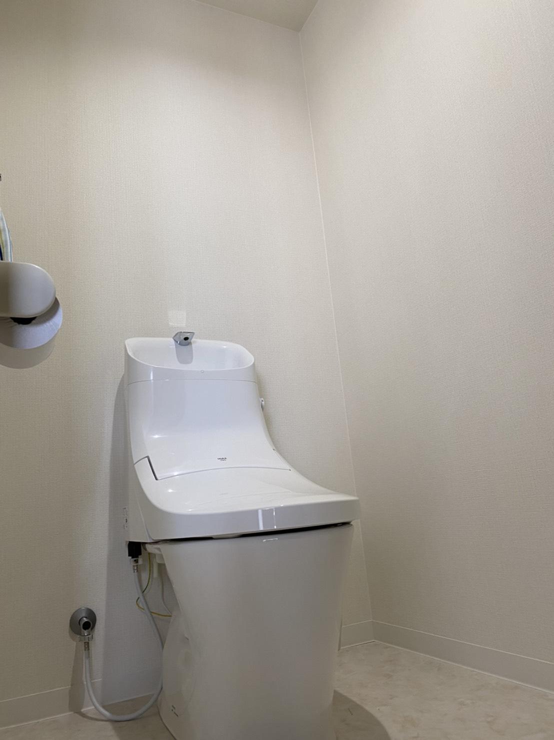 枚方市長尾家具町 トイレ設置、洗面台設置